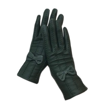 Gloves 2020 new ladies sheepskin old green gloves leather fashion winter warm beautiful free shipping genuine driving ou