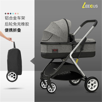 Free shipping Baby Stroller Can Sit Reclining Simple Light Folding High Landscape Two-way Shock Newborn Child Baby Car stroller can sit reclining light portable simple folding high landscape two way shock baby stroller