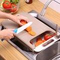 Многофункциональная разделочная доска  утолщенная пластиковая разделочная доска прямоугольная фруктовое мясо Нескользящая кухонная доск...