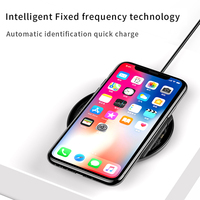Baseus Fast Qi Wireless Charger for iPhone 12 Charger Pad Visible Element Wireless Charging Pad for Samsung S9 S10+ Note 9 10