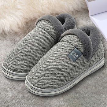 Home Warm Slippers For Men Women Winter Furry Short Plush Man Slippers Non Slip Bedroom Slippers Couple Soft Indoor Shoes Male home warm slippers for men women winter furry short plush man slippers non slip bedroom slippers couple soft indoor shoes male