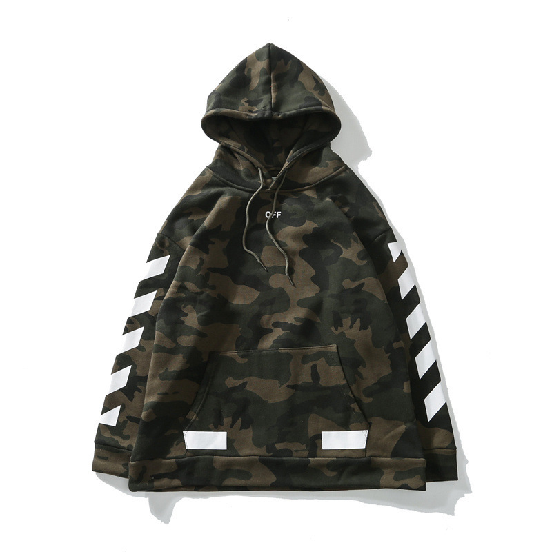 Ow Popular Brand Off White2018 Spring And Autumn Classic Arrowhead Printed Pure Cotton Pullover Hoodie