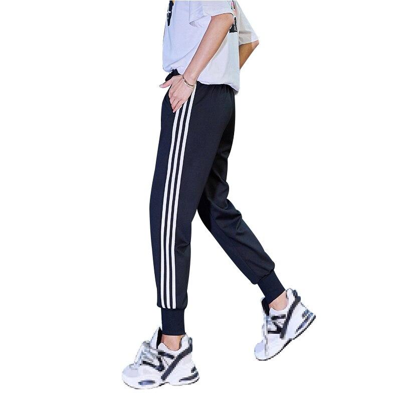 White Side Sports Pants Female Summer 2019 Streetwear Plus Size Pants Cargo Women Trousers Loose Jogger Woman Sweatpants
