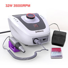 Pro 32W 35000RPM Electric Nail Drill Machine Diamond Nail File Drill Machine Maniure Cutter And Pedicure Drill Polish Bits Tools