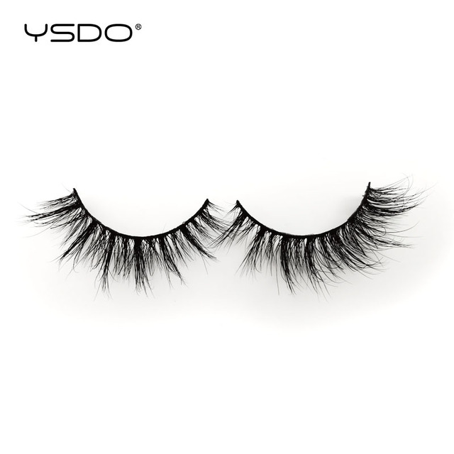 YSDO 1 Pair 3D Mink Lashes Makeup Wispy Fluffy Mink Eyelashes Natural Long False Eyelashes Extension Fake Lashes Maquillaje 39A 1