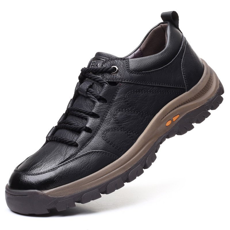 Brand New Men Casual Shoes Spring Split Leather Thick Buttom Wear resistant Shoes British Style Men
