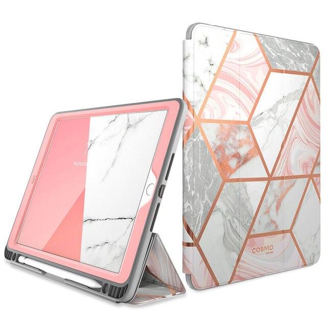 Per iPad 10.2 Caso (2019) i Blason Cosmo A Tre Ante Astuta Del Basamento di Caso con Auto Sleep/Wake & Supporto Della Matita, built in Protezione Dello Schermo