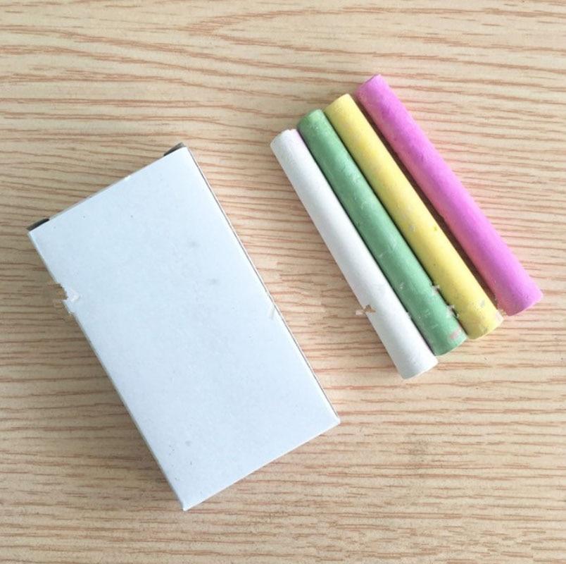 4PCS/Box Dustless Chalk Pen Plaster Painting Graffiti Pen White Chalk Blackboard Pen Crafts Stationery Accessories