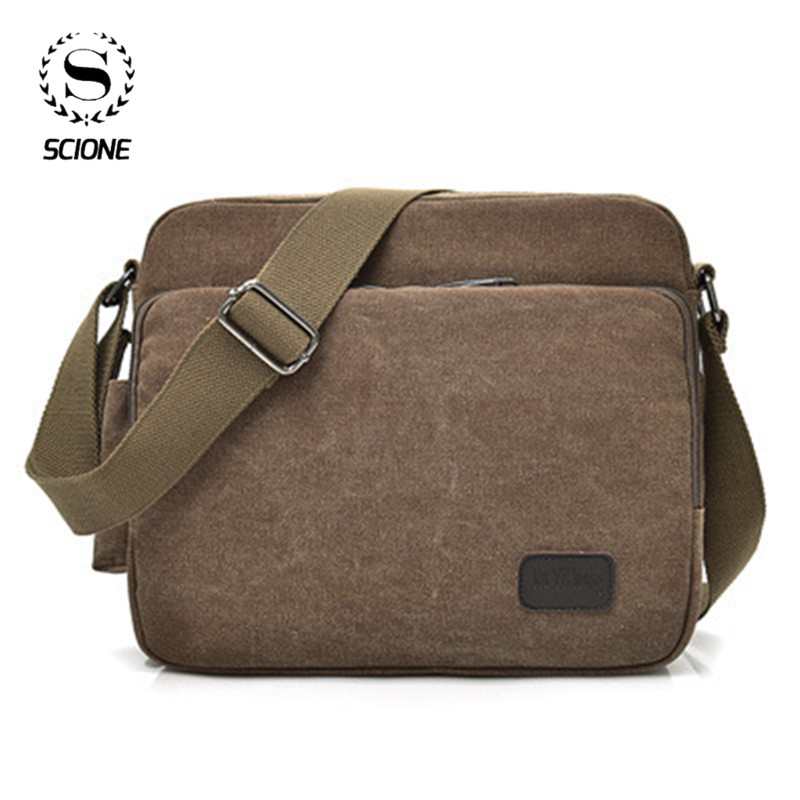 Men Canvas Multifunction Vintage Messenger Shoulder Bag Korean Trend Simple Pack For Men Women Office Outdoor Travel Bag