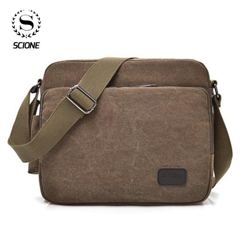 Men Canvas Multifunction Vintage Messenger Shoulder Bag Korean Trend Simple Pack For Men Women Office Outdoor Travel Bag