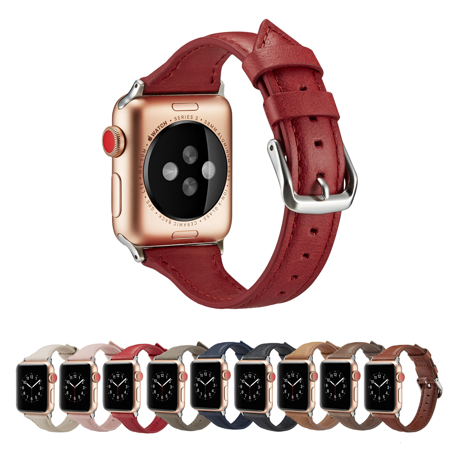 Suitable For APPLE Watch Strap Genuine Leather Texture Watch Strap APPLE Watch Leather Watch Strap