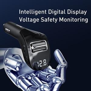 Image 5 - Автомобильное зарядное устройство Baseus, FM передатчик, AUX модулятор, Bluetooth 5,0, автомобильный комплект громкой связи, аудио mp3 плеер, 3A быстрое автомобильное зарядное устройство для iPhone