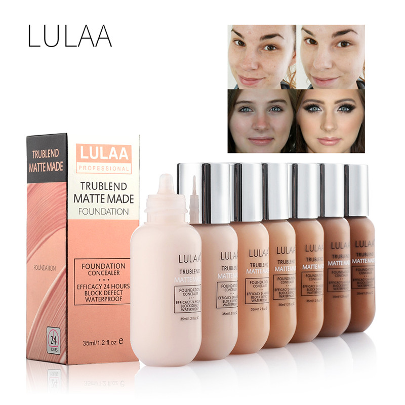 Womens Makeup Liquid Foundation Matte Long Wear Soft Oil Control BB CC Concealer Cream Sun Block Natural Korean Cosmetics
