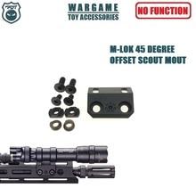 цена на BCM MK4 MK8 MK16 SMR SLR Rail Handguard M-lok 45 Degree offset Mount for Surefire M600 Scout M300 Series Lights