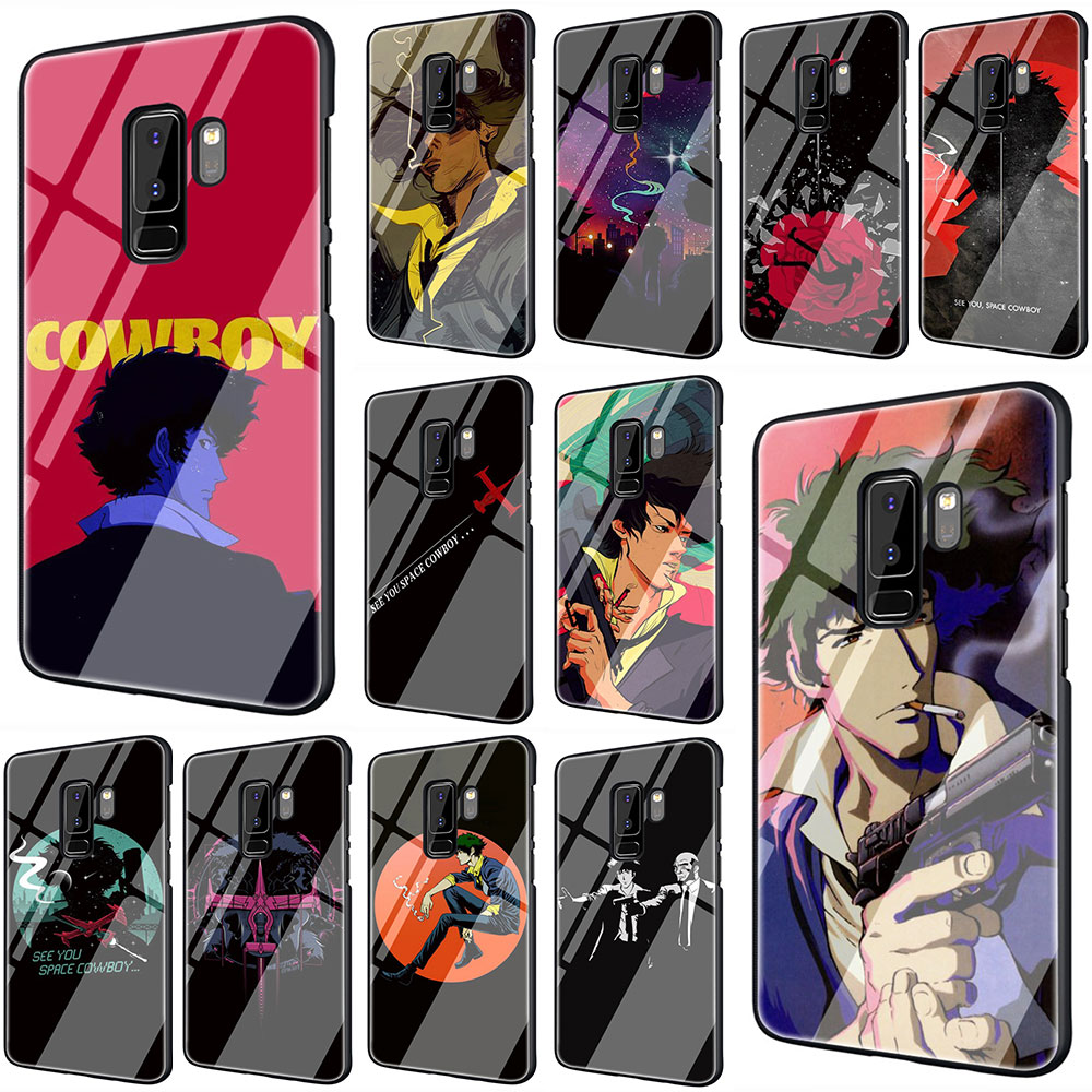 EWAU Cowboy Bebop Anime Tempered <font><b>Glass</b></font> Phone Cover <font><b>Case</b></font> For Galaxy S7 edge S8 9 10 Plus Note 8 9 10 A10 20 30 40 50 60 <font><b>70</b></font> image