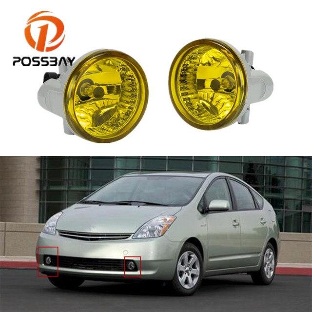 POSSBAY-feu antibrouillard inférieur équipé | Adapté à Toyota Prius 2004-2009 série NHW20, feux de course clignotants avec ampoules