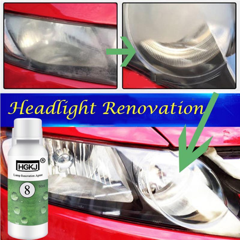 HGKJ-8-50ML Multifunction Car Polishing Repair Kit Headlight Agent Retreading Agent Ceramic Car Window Accessries