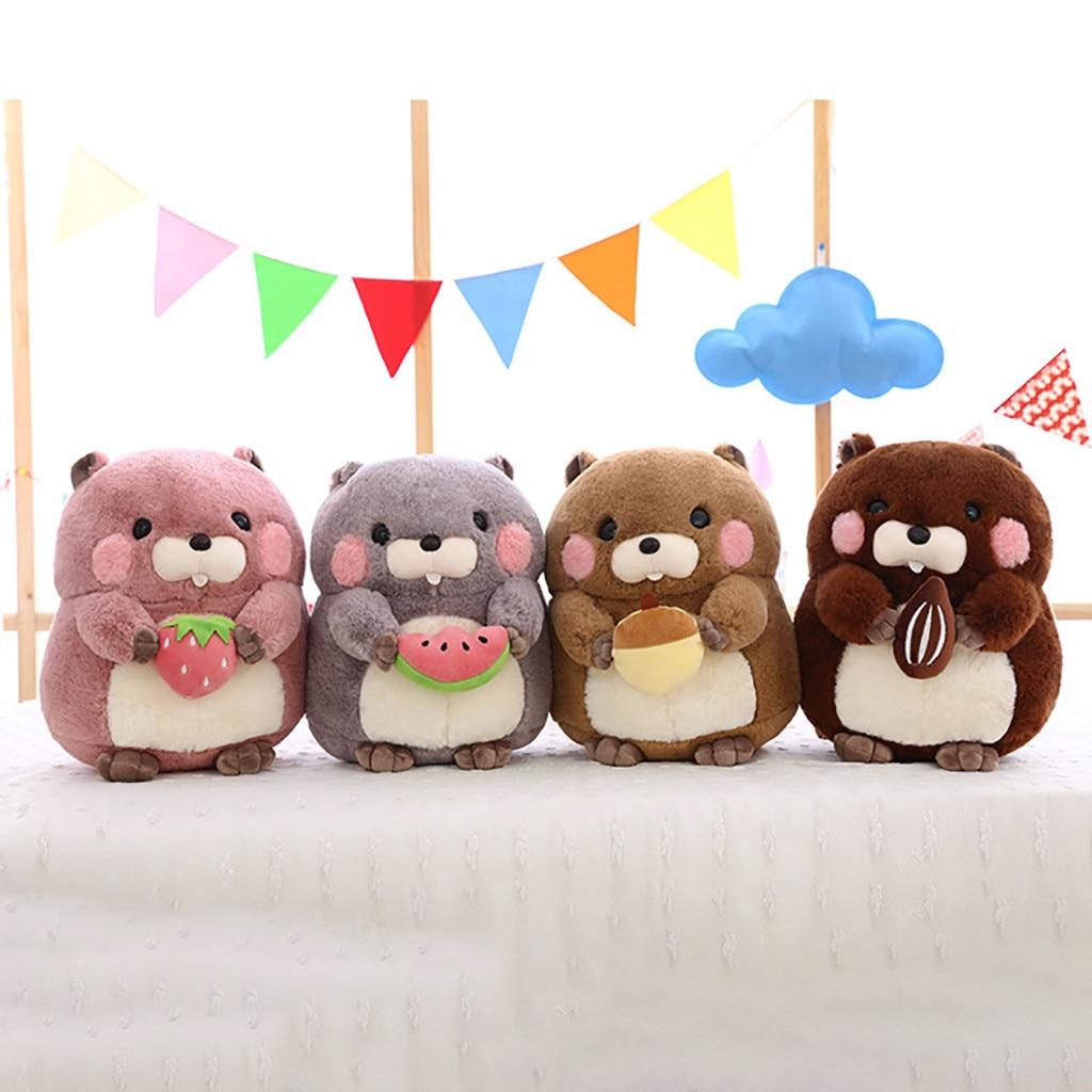 kawaii plush Adorable Kawaii fluffier Groundhog Woodchuck Stuffed Animal Plush Toy 20CM stuffed animals Baby Toys