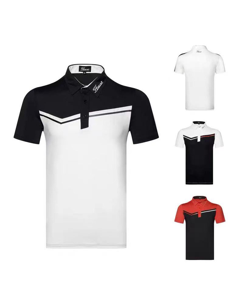 2021 golf clothes men's breathable non-iron short-sleeved outdoor sportswear t-shirt jersey summer