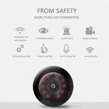 Minicámara inalámbrica V380 con visión nocturna para el hogar, videocámara de seguridad P2P HD de 1080P con Wifi, movimiento DVR, vídeo deportivo