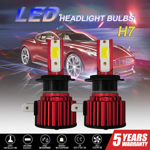 Image 1 - 2PCS CarTnT Auto Scheinwerfer Lampen H7 LED H9 HB3 9005 HB4 9006 H11 H8 Led lampe Canbus 100W 20000LM 6000K 12V LED Scheinwerfer Lampe