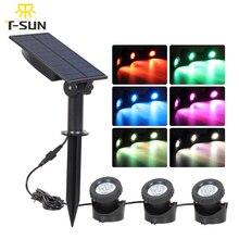 T SUNRISE Solar LED Licht Unterwasser Teich Licht Wasserdicht 3 Tauch Lampen Projektor Licht Garten led Pool licht Solar Power