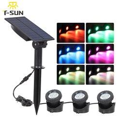 Projecteur solaire submergé à T-SUNRISE ou lumière LED, imperméable, idéal pour un étang ou une piscine ou une piscine à led de jardin degrés