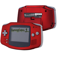 Full-Shell Game-Console Scarlet Advance-Handheld Soft-Touch-Replacement Red for Not-Included