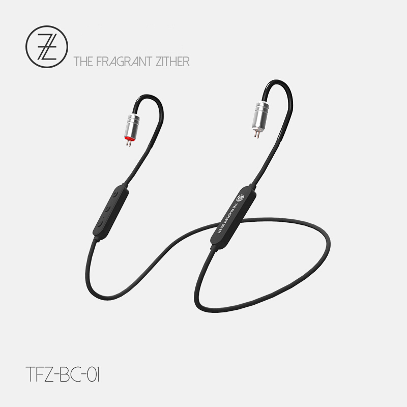 TFZ BC 01 02 03 Wireless Bluetooth 5.0 SBC AAC <font><b>Cable</b></font> <font><b>0.78</b></font> mm <font><b>2pin</b></font> Bluetooth Headset Replacement Module <font><b>Cable</b></font> With Mic image