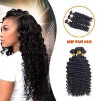 Women Fashion Wig European Human Hair Nature Black Deep Wave Hair Wigs for Women Wavy Cosplay Hair Wig