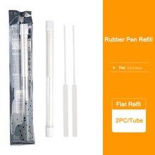 2PCS/Tubo de Borracha Mecânico Caneta Refil Refil 2.3 milímetros Redonda 2.5X5mm Plana Refil para Esboço Borracha Earser Papelaria Suprimentos