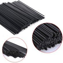 100 шт 22 см х 3 мм черные волокна ротанга палочки эфирное масло Рид диффузор Замена заправка палочки