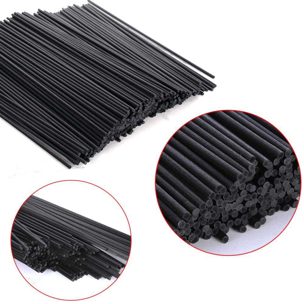 100PCS 22cmx3mm Black Fiber Rattan Sticks Essential Oil Reed Diffuser Replacement Refill  Sticks
