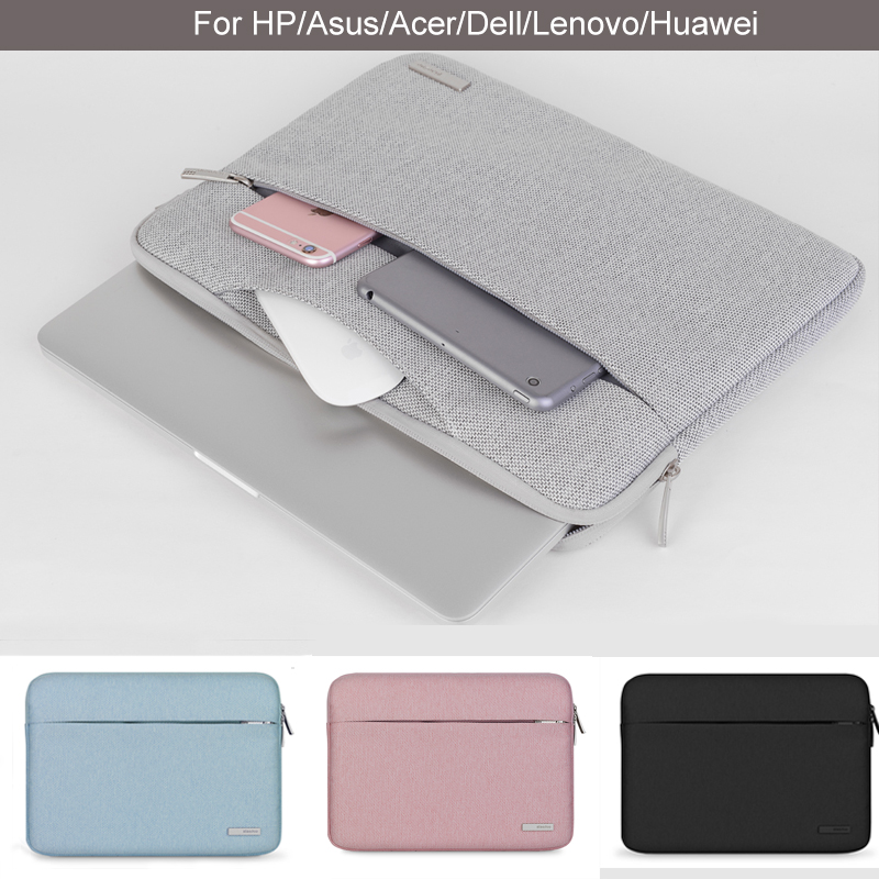 13 14 15 Notebook Case Sleeve Soft Laptop PC Bag for Dell Lenovo Toshiba HP ASUS Acer 11 12 Inch 15.6 inch Men Carry Case image