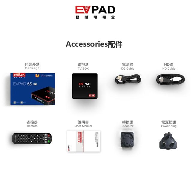 [Genuine]2021 ev pad 5p 5s pro evpad evbox 5p 5S android 10.0 6k 4+32G EVAI control for Korea Japan SG AU Canada Thai Ph europe 2
