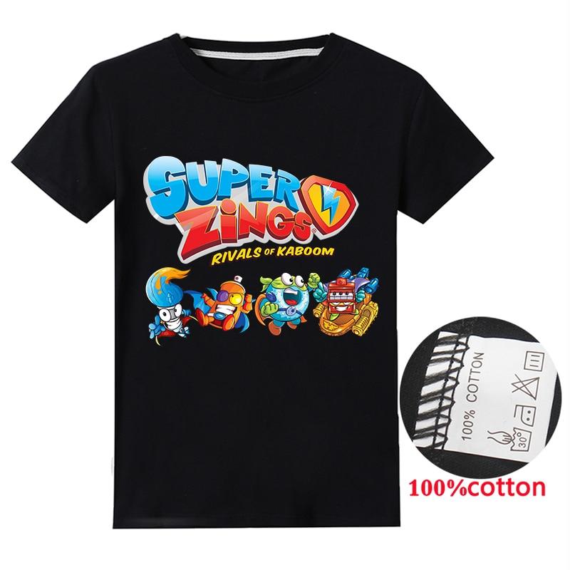 Verão superzings algodão crianças roupas dos miúdos meninas dos desenhos animados impresso t camisas criança super zings t-shirts do bebê meninos t topos