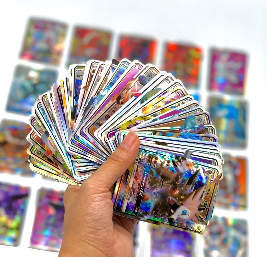 300 pçs inglês gx vmax brilhando takara tomy pokemon cartões jogo inglês batalha carte 200 pçs cartas de negociação jogo crianças brinquedo