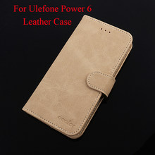For Ulefone Power 6 Leather Case 6.3'' Flip Cover With Anti-knock With Card Pocket For Ulefone Power 6 Protective Case(China)