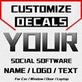 Пользовательские Автомобильные Наклейки Имя Логотип текст JAYJOE индивидуальные наклейки для автомобилей мотоциклов бампер окна двери накле...