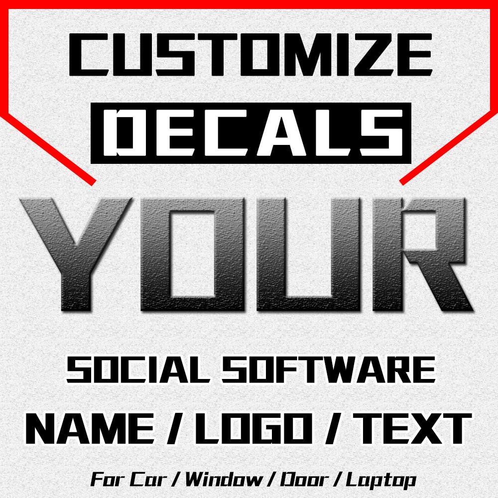 Customize Name Logo Text Car Sticker JAYJOE Custom Decals For Cars Auto Motorcycle Bumper Window Door Body Car Stickers