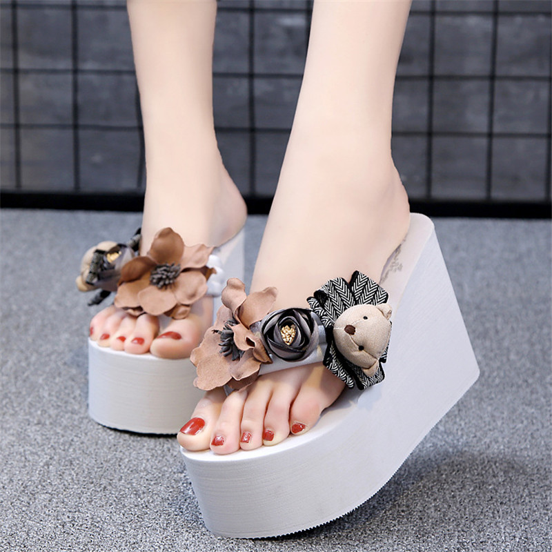 Flip Flops Wedges Sandals Women Slip on