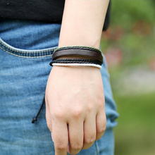 creative Bracelets Jewelry Wristband Colourful Multilayer Leather Cotton Rope Adjustable Hand Made Men Women Clothing Accessorie