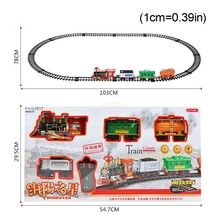 Children Electric Remote Control Rail Train Set Simulation Assembly Model Toy GXMB