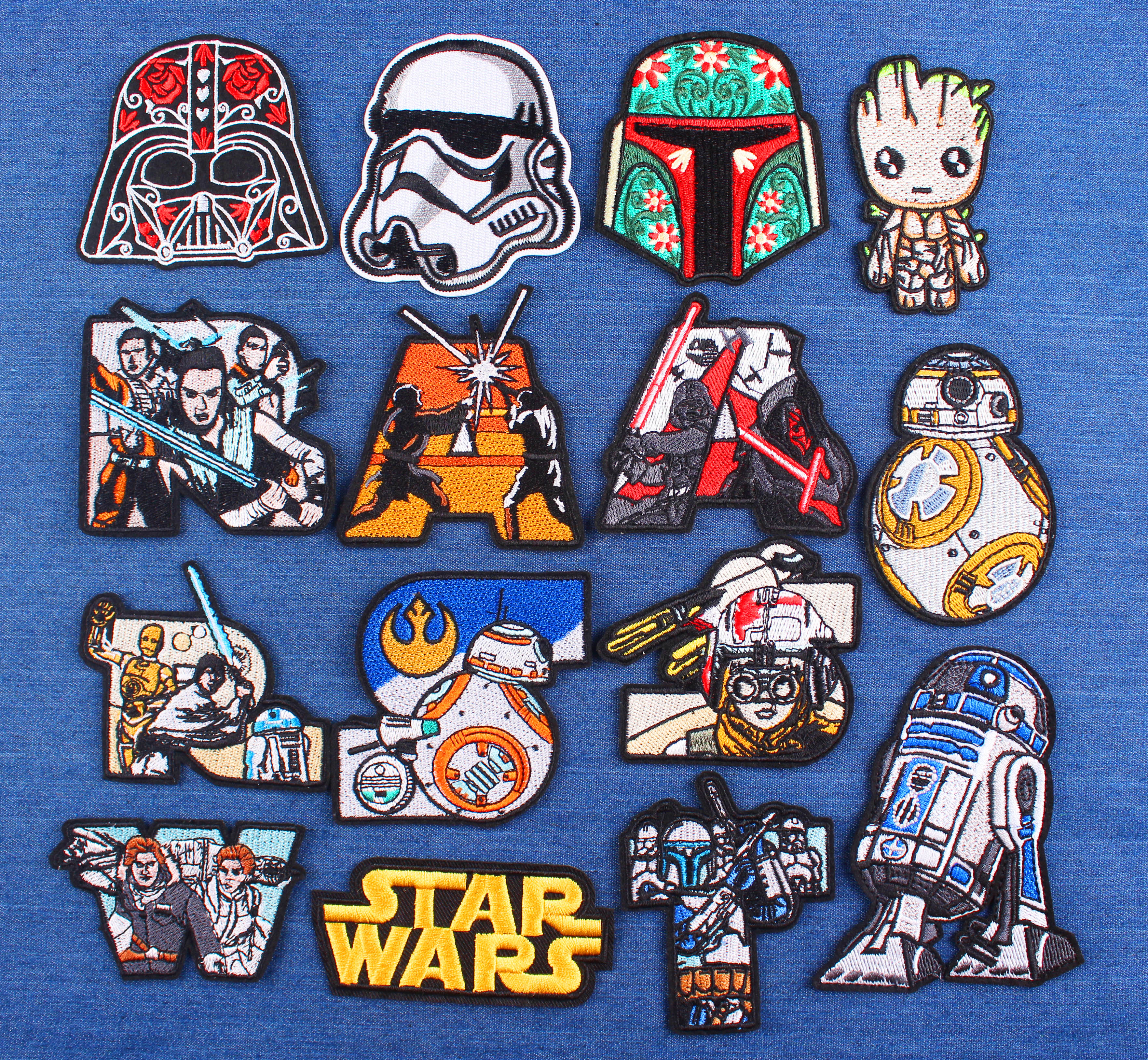 Iron Patch Fusible Clothing Sticker For Clothes Application New Arrived Star Wars Patch Jacket Jeans Appliqued Badge On The Back