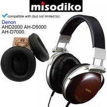 طقم وسائد وسائد الأذن للاستبدال من misodiko AH D2000 Denon AH D5000 فوق الأذن ، وسادات أذن أجزاء إصلاح سماعات الأذن