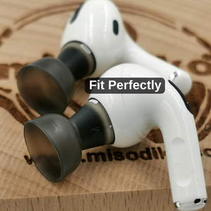 Image 4 - misodiko Comfy Soft Silicone Earbuds Ear Tips for Apple AirPods Air Pods Pro, Replacement Earphones Eartips (Transparent Black)