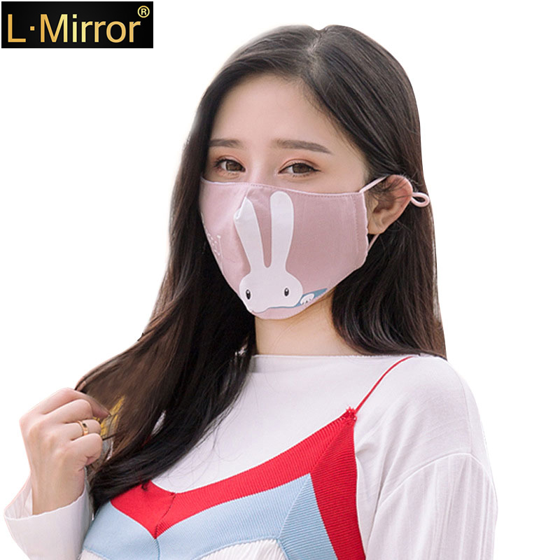 L.Mirror Cotton PM2.5 Black Anti Dust Mouth Mask Activated Carbon Filter Windproof Mouth-muffle Bacteria Proof Flu Face Masks