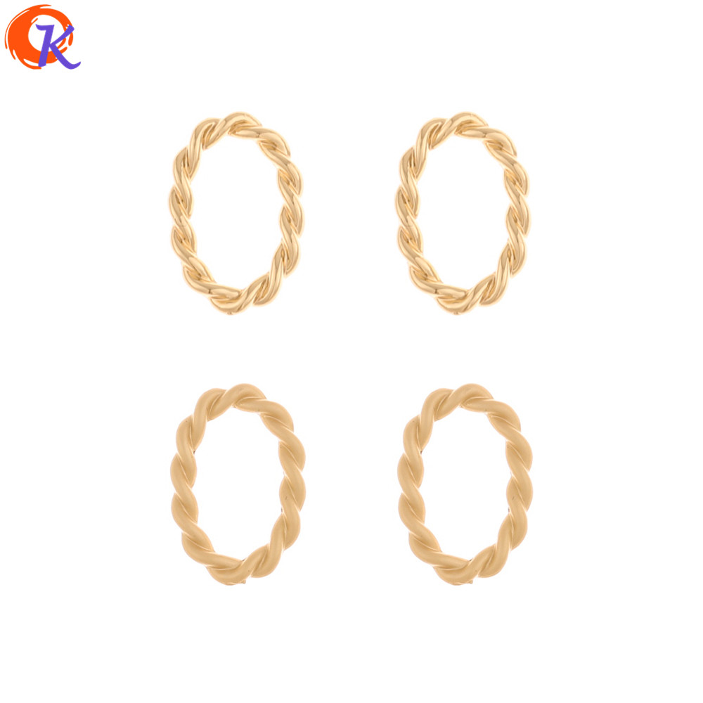 Cordial Design 100Pcs 12*18MM Earrings Connectors/Jewelry Accessories/Hand Made/Oval Loop Shape/DIY Making/Earring Findings