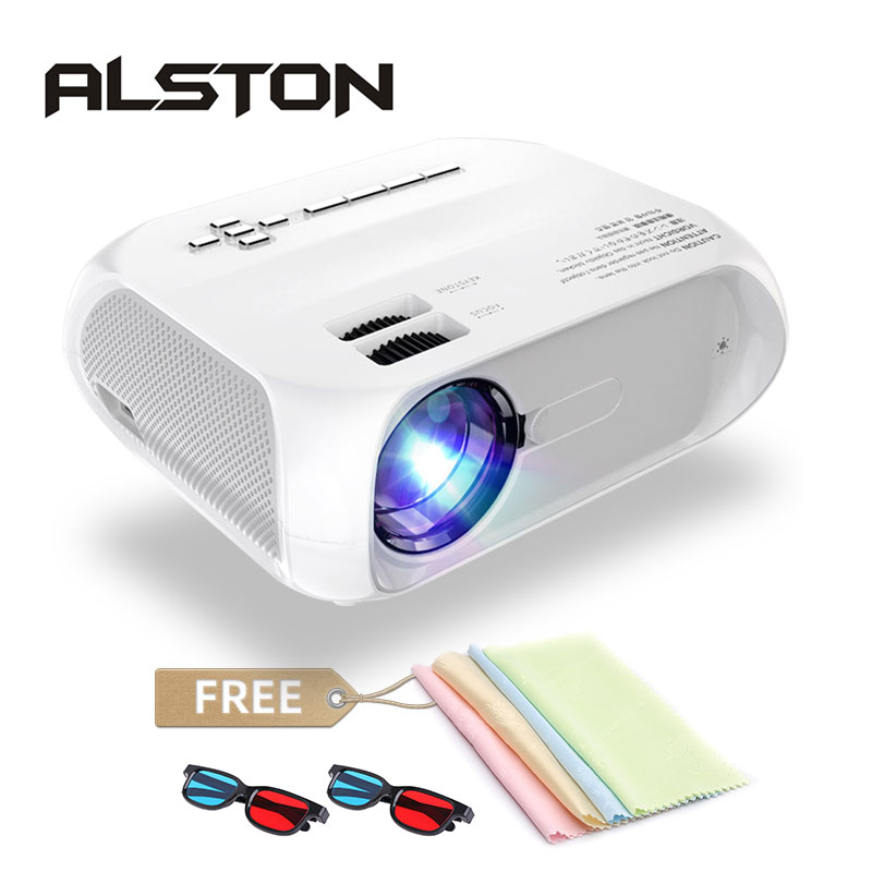 ALSTON S5 HD led projector 3800 Lumens Support 1080p portable cinema Proyector Beamer with gift