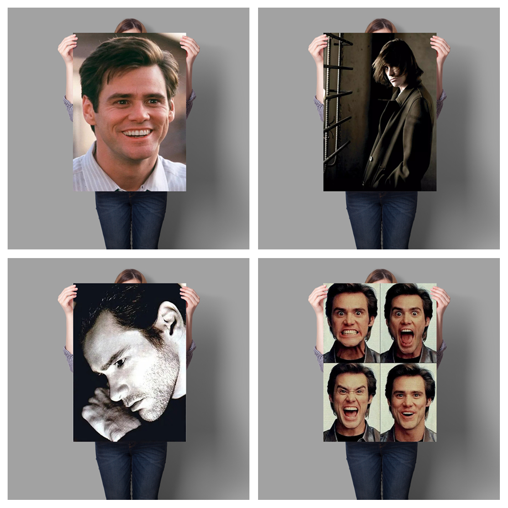 Canadian famous actor Jim Carrey personal life photo HD poster hight quality canvas painting cuadros decoracion salon No Frame image